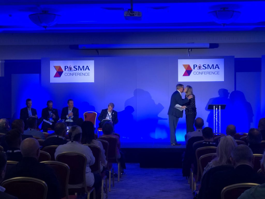 PASMA AMM 2019 - Gillian Rutter hands over the role of Chair to Roger Verallo