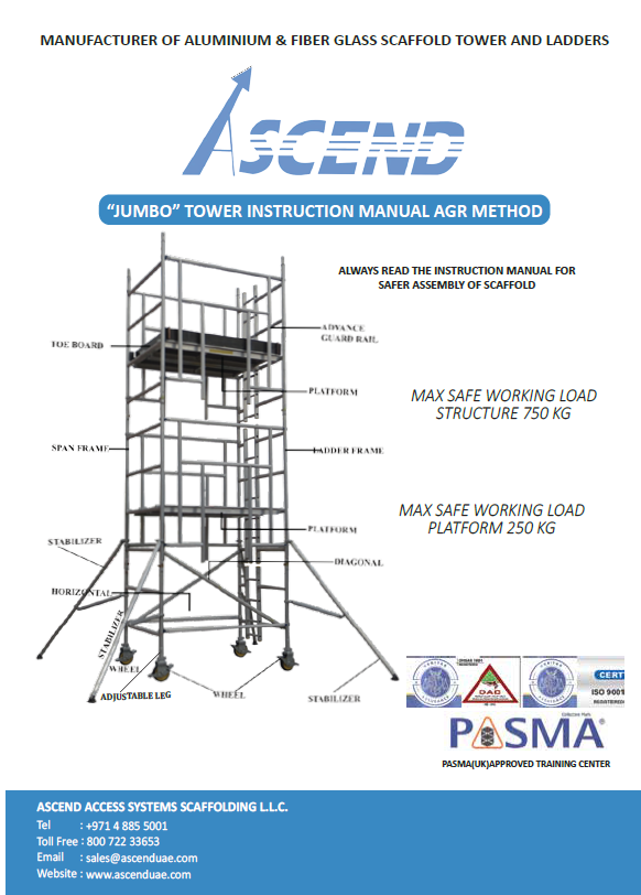 Ascend Access Systems Scaffolding Jumbo Tower