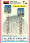Aluminium Scaffold Towers Industrial Tower instruction manual