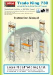 Aluminium Scaffold Towers Trade King instruction manual