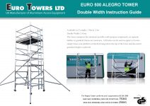 Euro Towers Alegro Euro 500 Double Width 3T instruction manual