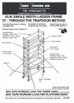 Euro Towers Ladder Tower Single Width 3T instruction manual