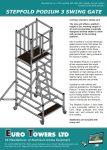 Euro Towers Stepfold Podium 3 Swing Gate