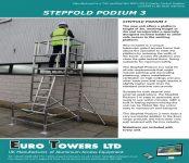 Euro Towers Stepfold Podium 3